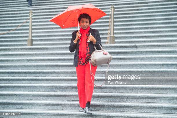 Rep Yvette D Clarke DNY leaves the Capitol after the House vote on an impeachment inquiry resolution on Thursday October 31 2019