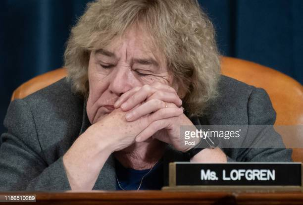 S Rep Zoe Lofgren attends testimony by constitutional scholars before the House Judiciary Committee in the Longworth House Office Building on Capitol...