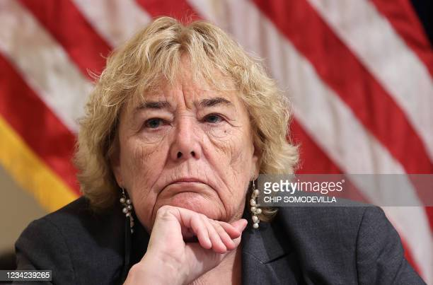 Rep. Zoe Lofgren listens to testimony during the Select Committee investigation of the January 6 attack on the US Capitol, during their first hearing...