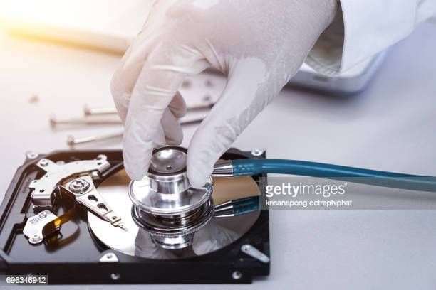 Repair hard disk and retrieve data