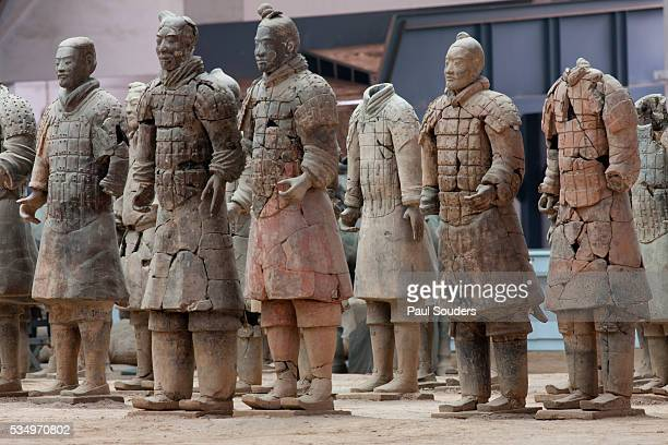 Repaired terracotta soldiers at Qin Shi Huangdi Tomb