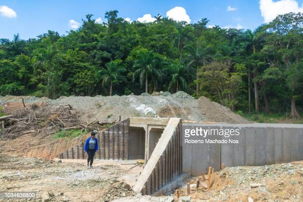 Repairing the broken bridges in the area of Jibacoa Supervisor chequing the quality of the work Many bridges and infrastructure were razed by the...
