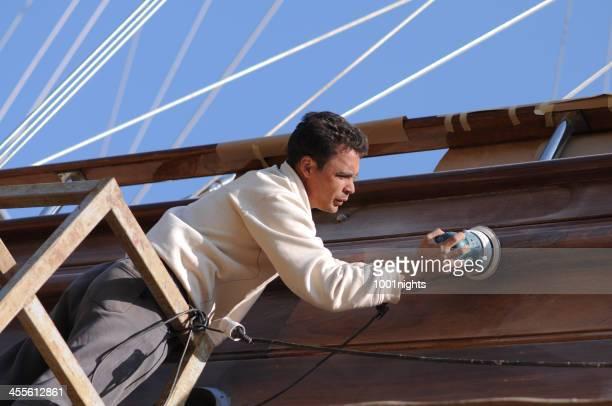 Reparatur des Schiff