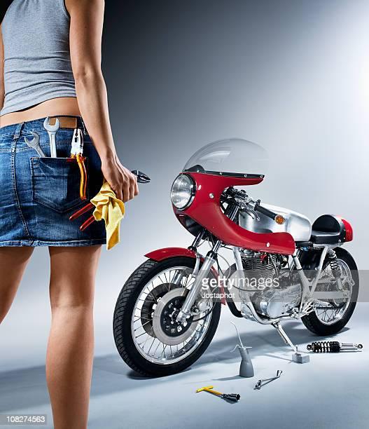 Repairing woman