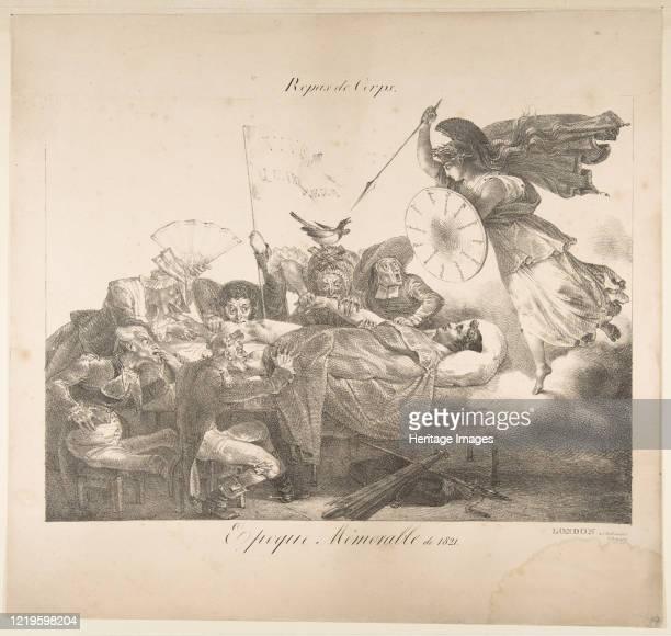 Repas de Corps Epoque Mémorable de 1821 1821 Artist Charles Joseph Hullmandel