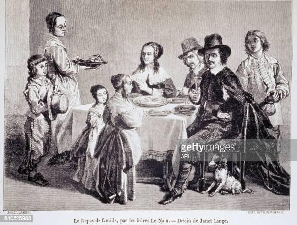 Repas de famille au XVIè siècle par les Frères Le Nain