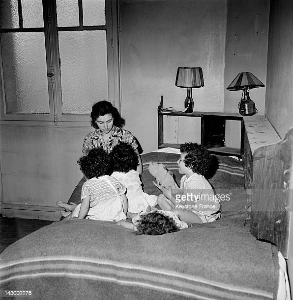 20 repatriated families from Algeria occupy the former brothel 'Le Sphinx' located on Boulevard Edgar Quinet in Paris France on August 10 1962...
