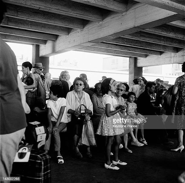 Repatriated people from Algeria arrive in Marseille France on July 20 1962