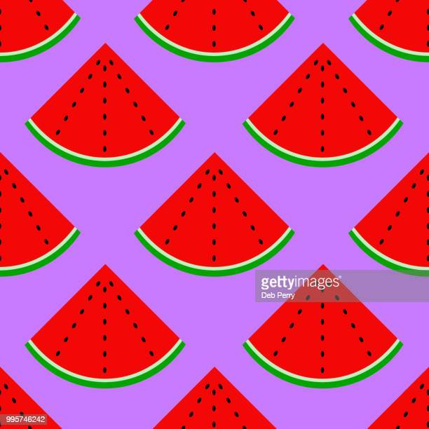 Repeating pattern of watermelon illustration