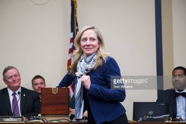 Repelect Abigail Spanberger DVa is seen drawing number 11 during the new member room lottery draw for office space in Rayburn Building on November 30...