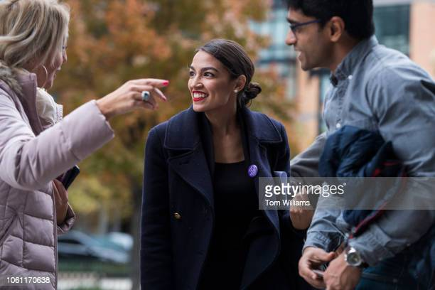 Repelect Alexandria OcasioCortez DNY arrives for New Member Orientation at the Courtyard Marriott in SE on November 13 2018