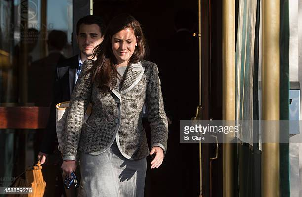 Repelect Elise Stefanik RNY right leaves the Capitol Hill Club in Washington with aide Anthony Pileggi on Wednesday Nov 12 2014