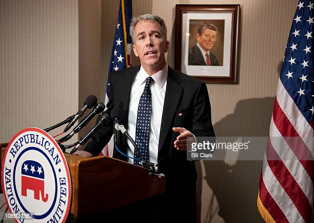 Repelect Joe Walsh RIll holds a news conference on his election to Congress at the Republican National Committee headquarters on Wednesday Nov 17 2010