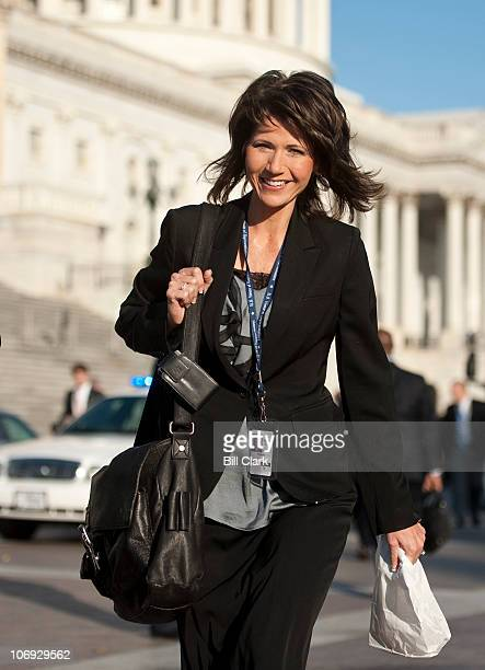 Repelect Kristi Noem RS Dak center arrives with other newly elected members of Congress on the East Plaza for their ongoing orientation sessions on...