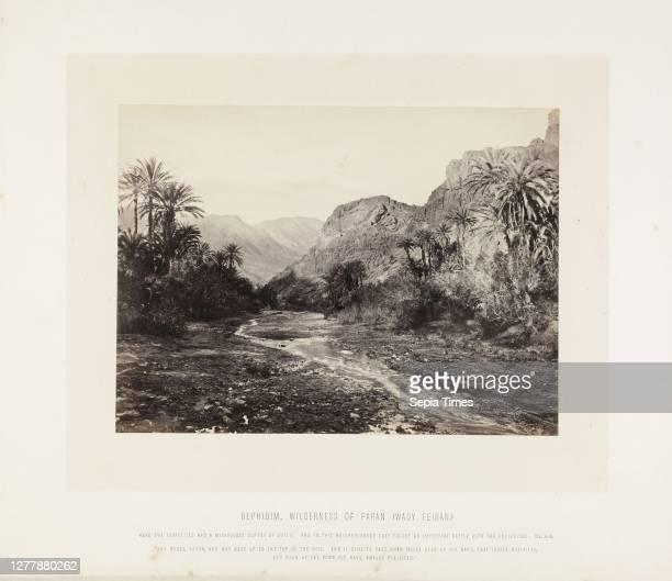 Rephidim, wilderness of Paran ,orientalist photography, F. Frith, Good, Frank M., 1860s.