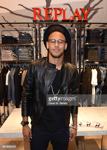 Replay brand ambassador and International football star Neymar Jr makes a special guest appearance for fans at Replay concession stand to celebrate...