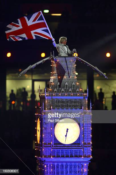 A replica Big Ben is seen during the Closing Ceremony on Day 16 of the London 2012 Olympic Games at Olympic Stadium on August 12 2012 in London...