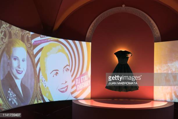 A replica of a dress that belonged to former Argentina's First Lady Eva Peron is exhibited at the Evita Museum in Buenos Aires on May 6 2019 May 7th...