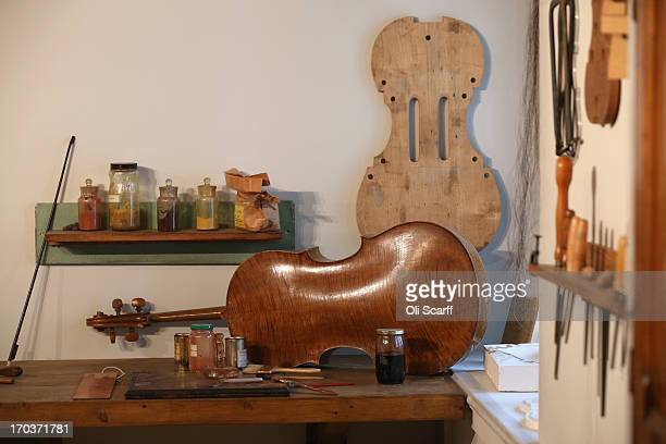 A replica of Antonio Stradivari's workshop on display in the exhibition 'Stradivarius' at the Ashmolean museum on June 12 2013 in Oxford England The...