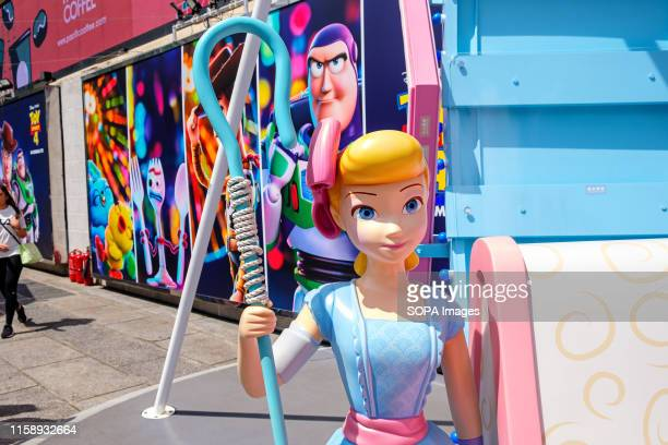 A replica of Bo Peep seen during the Carnival Toy Story 4 is celebrated with a themed carnival of different games and challenges at Hong Kong Harbour...