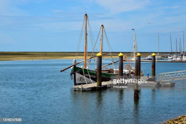 replica of caíque bom sucesso, olhao, algarve, portugal - sucesso stock pictures, royalty-free photos & images