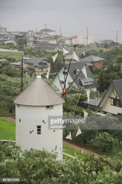 A Replica of Greek Windmill at Shodoshima Olive Park on Shodo Island