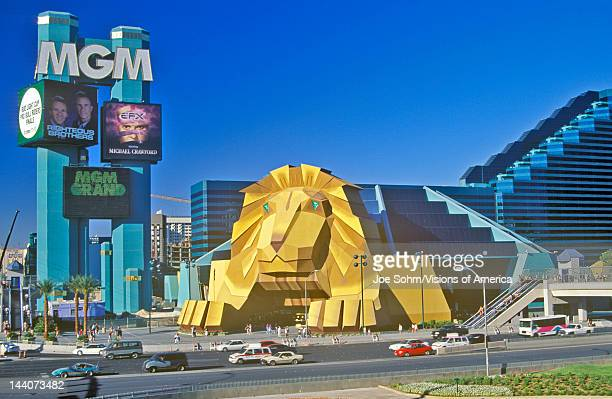 Replica of lion at the Entrance of the MGM Grand Hotel Las Vegas NV