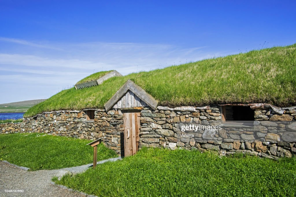 Replica Of Norse Viking Longhouse At Brookpoint Unst