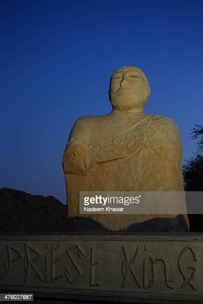 Replica of Priest-King at Mohnjo-daro. N 1927, a seated male soapstone figure was found in a building with unusually ornamental brickwork and a...