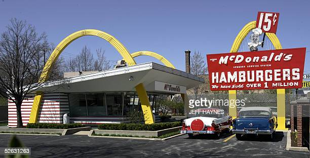 A replica of Ray Kroc's first McDonald's franchise 14 April 2005 acts as a museum in Des Plaines Illinois as the McDonald's Corporation is...
