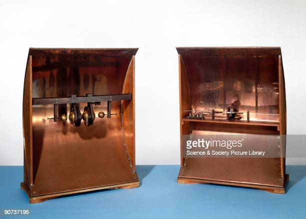 Replica of reflectors and spark gap In 1894 Italian scientist Guglielmo Marconi began experimenting with electromagnetic waves in an attempt to find...