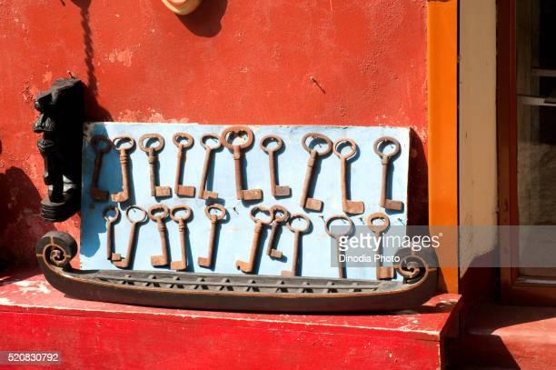 Replica of snake boat and metal keys, Cochin Kochi, Kerala, India