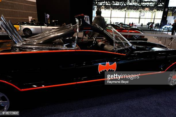 A replica of the Adam West and Bert Ward era 'Batman' Batmobile is on display at the 110th Annual Chicago Auto Show at McCormick Place in Chicago...