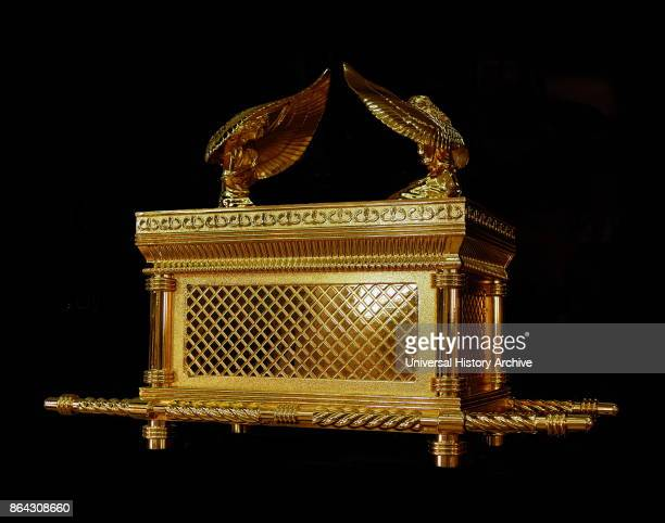 Replica of the Ark of the Covenant a goldcovered wooden chest described in the Book of Exodus as containing the two stone tablets of the Ten...