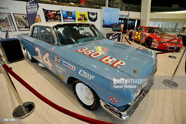 Replica of the car driven by Wendell Scott and used in a documentary about his racing career is seen on display during the unveiling of the new...