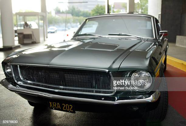 A replica of the Ford Mustang that Steve McQueen drove in Bullet is on display at the screening of TCM's documentary Steve McQueen The Essence of...