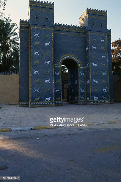 Replica of the Ishtar Gate in Babylon Iraq