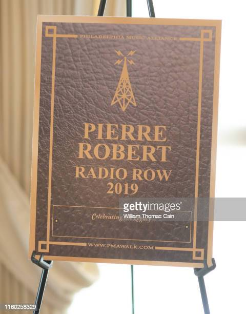 A replica of the marker announcing Pierre Robert as a member of the 2019 inductee is seen during the announcement of the 2019 Philadelphia Music...