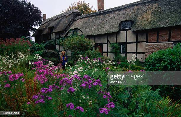 Replica of the thatched cottage belonging to Anne Hathaway, wife of William Shakespeare, in the English Village, Victoria