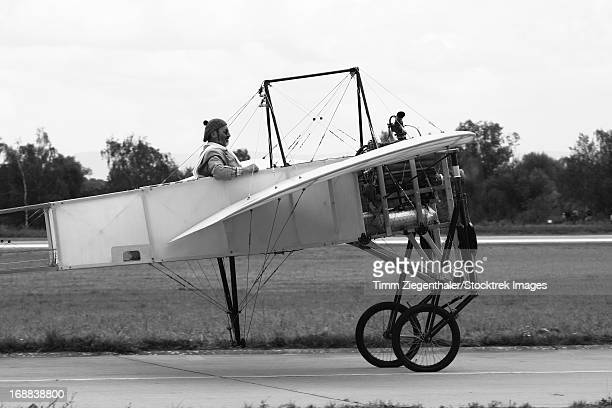 Replica of the Wright Flyer, Hradec Kralove Air Base, Czech Republic.