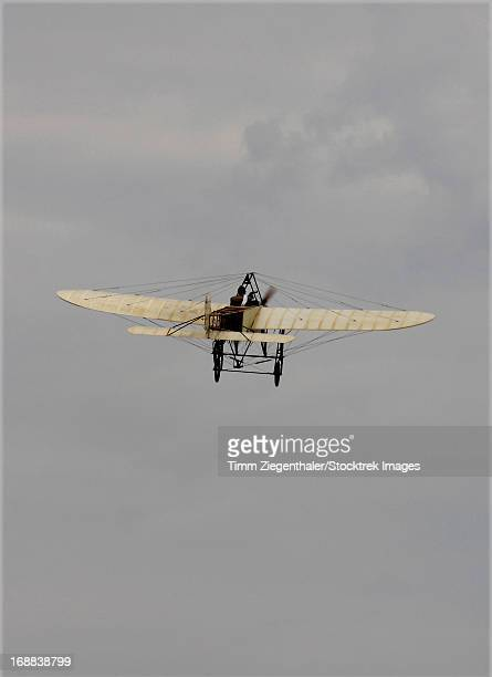 Replica of the Wright Flyer in flight over Czech Republic.