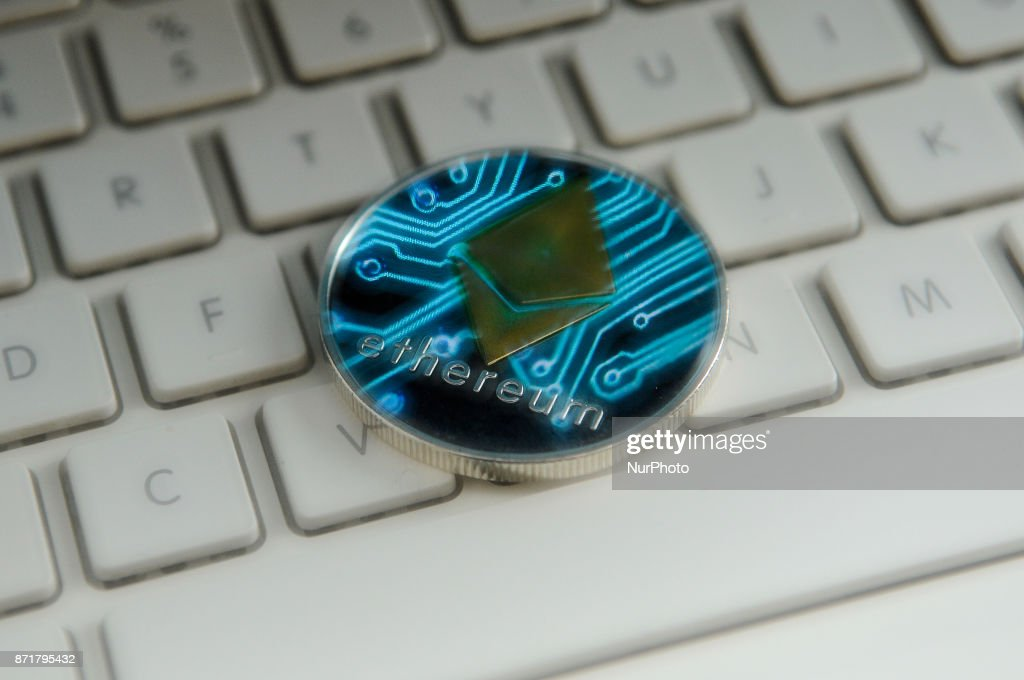 Ether Cryptocurrency Coin : News Photo