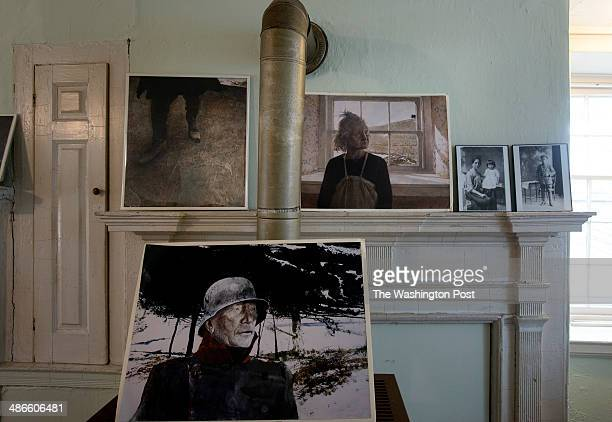 Replicas of Andrew Wyeth paintings on display at the Kuerner farm on April 7 in Chadds Ford PA The late artist Andrew Wyeth lived in the area and his...
