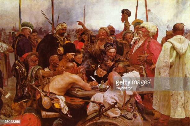 Reply of the Zaporozhian Cossacks to Sultan Mehmed IV of the Ottoman Empire also known as Cossacks of Saporog Are Drafting a Manifesto The 203 m by...