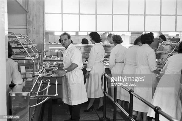 Report On The Nuclear Power Plant In Saclay France Octobre 1958 Centre de recherches nucléaires de Saclay ambiance à la cantine Des hommes et des...