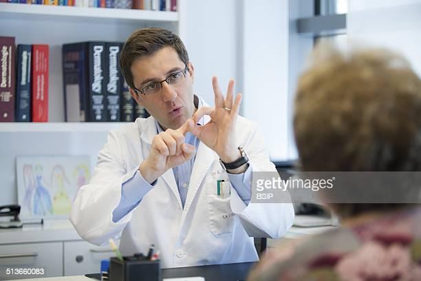 Reportage in a dermatology practice in Geneva Switzerland Consultation