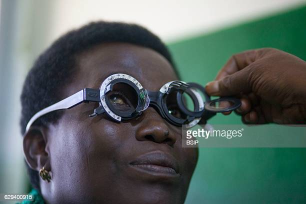 Reportage in a health center in Lome Togo Ophthalmologic consultation