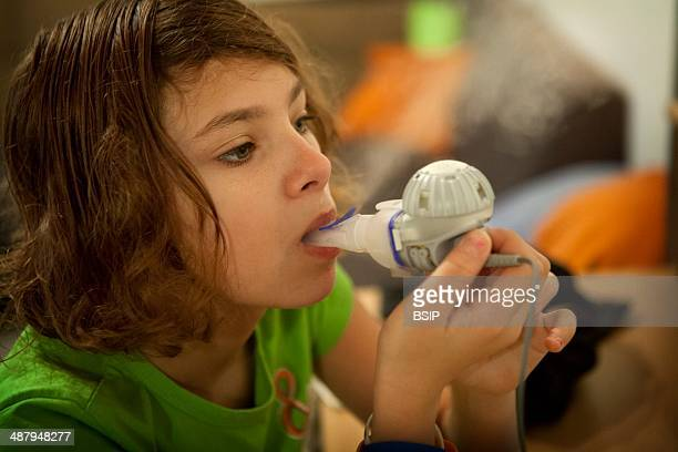 Reportage on Lara who suffers from cystic fibrosis Every morning and evening she has to use her aerosols