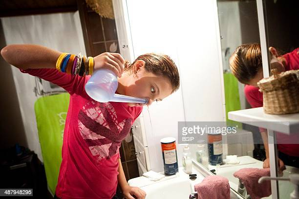Reportage on Lara who suffers from cystic fibrosis Lara has to have heavy treatment on a daily basis due to her illness Every morning she has to...
