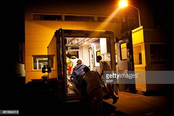 Reportage on Robert Ballanger Hospital's emergency medical team in Aulnay-Sous-Bois, France.